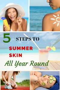 summer skin care moisturizing routine